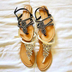 Bundle of 2 beaded sandals